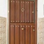 puerta rustica de aluminio