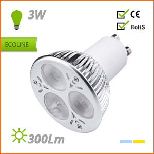 BOMBILLA LED GU10 220V 3W, tienda online Bombilla led