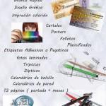 Panfletos, tarjetas de visitas, paneles en malaga
