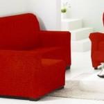 Juego de funda chaise longue y funda de sofá relax