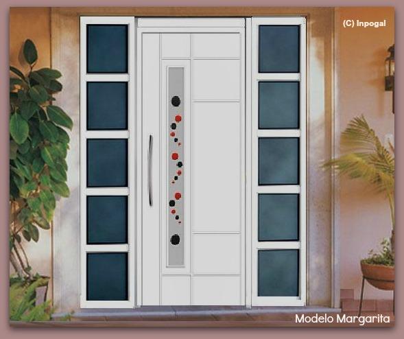 Puertas exteriores de aluminio inpogal espa a grupos for Puertas para calle modernas