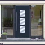 inpogal puerta negra aluminio