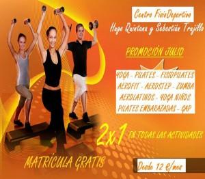 """FisioDeportivo """"2X1 EN TODAS LAS ACTIVIDADES"""". MATRÍCULA GRATIS."""