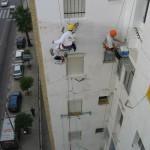 Trabajos verticales en fachallas, edificios, balcones, tejados