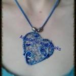 Colgante artesanal corazon