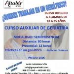 CURSO AUXILIAR DE GERIATRÍA CON PRÁCTICAS EN EMPRESAS