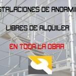 INSTALACION DE ANDAMIOS LIBRES DE ALQUILER