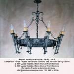 Lámparas y artículos decoración en forja